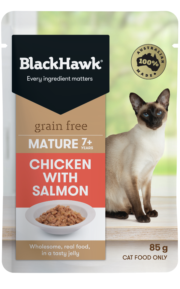 Wet Cat Food for Mature Cats - Chicken and Salmon